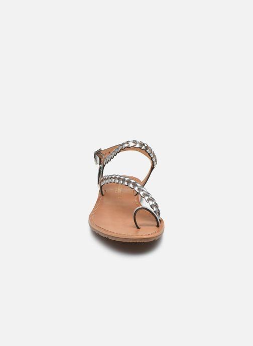 Sandales et nu-pieds Les Tropéziennes par M Belarbi HIDEA Argent vue portées chaussures