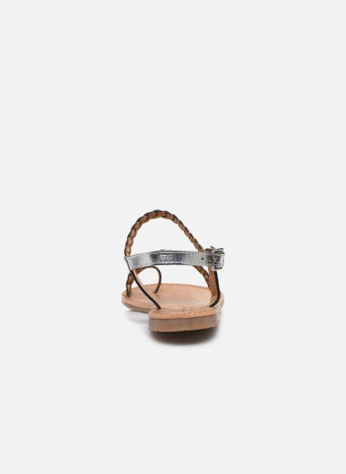 Sandalias Les Tropéziennes par M Belarbi HIDEA Plateado vista lateral derecha