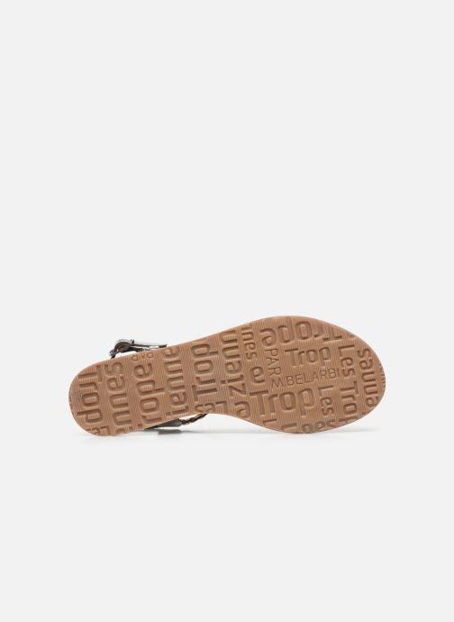 Sandales et nu-pieds Les Tropéziennes par M Belarbi HIDEA Argent vue haut