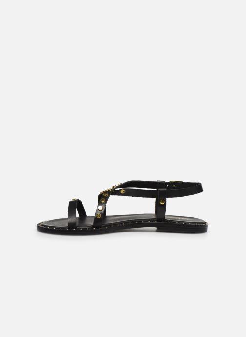 Sandales et nu-pieds Les Tropéziennes par M Belarbi POLO Noir vue face