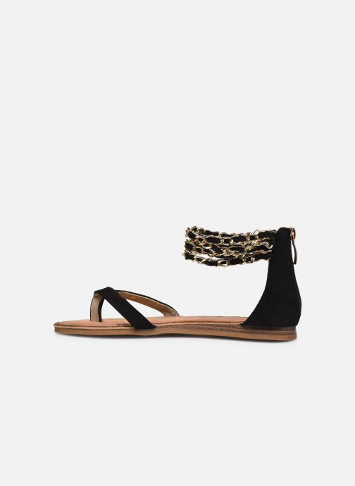 Sandales et nu-pieds Les Tropéziennes par M Belarbi GRIFIA Noir vue face