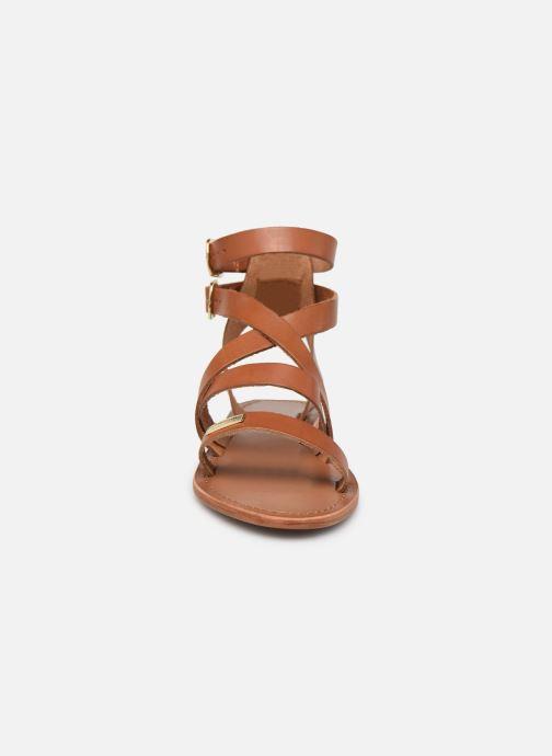 Sandales et nu-pieds Les Tropéziennes par M Belarbi OCEANIE Marron vue portées chaussures