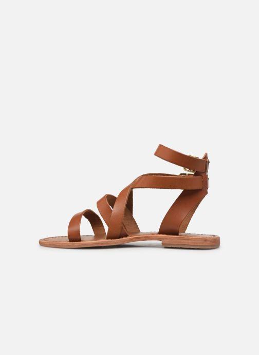 Sandales et nu-pieds Les Tropéziennes par M Belarbi OCEANIE Marron vue face
