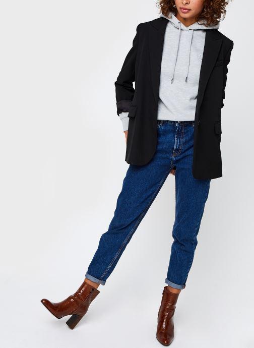 Vêtements Calvin Klein Jeans CK Embroidery Regular Hoodie Gris vue bas / vue portée sac