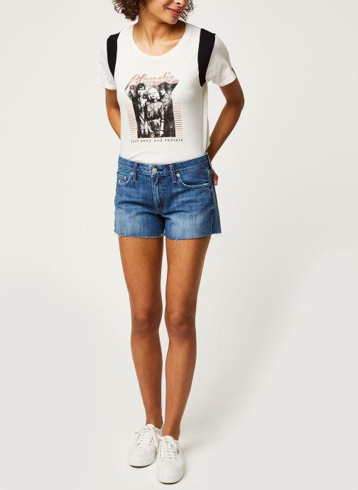 Vêtements Calvin Klein Jeans Mid Rise Short Bleu vue bas / vue portée sac