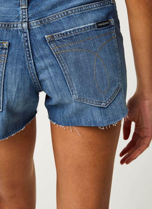 Vêtements Calvin Klein Jeans Mid Rise Short Bleu vue face