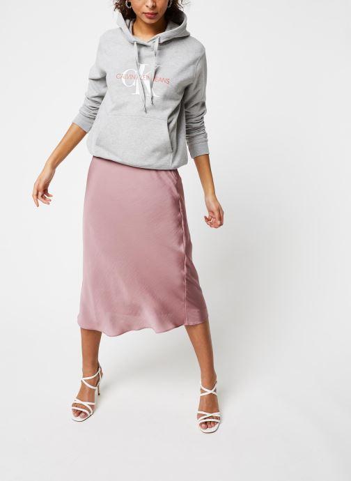 Vêtements Calvin Klein Jeans Monogram Relaxed Short Hoodie Gris vue bas / vue portée sac