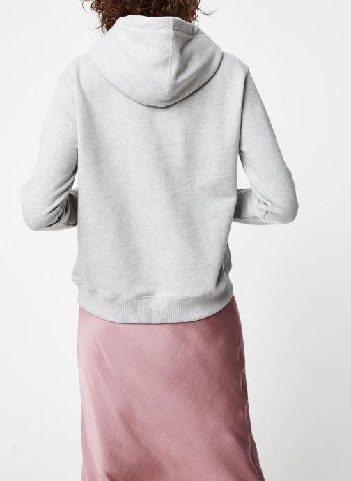 Vêtements Calvin Klein Jeans Monogram Relaxed Short Hoodie Gris vue portées chaussures