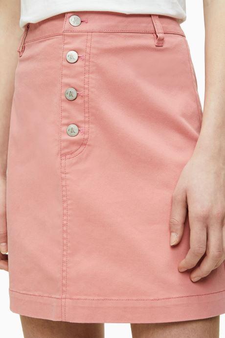 Calvin Klein Jeans Jupe Mini - Button Up Twill Skirt (rose) Vêtements(436034)