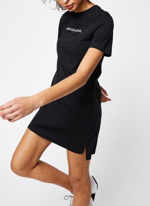 Vêtements Calvin Klein Jeans Institutional T-Shirt Dress Noir vue détail/paire