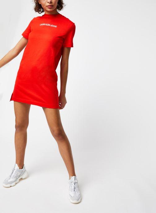 Vêtements Calvin Klein Jeans Institutional T-Shirt Dress Rouge vue bas / vue portée sac