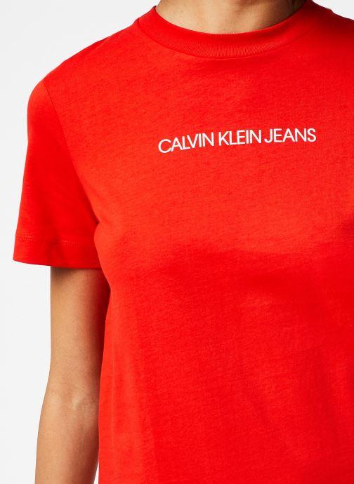 Vêtements Calvin Klein Jeans Institutional T-Shirt Dress Rouge vue face