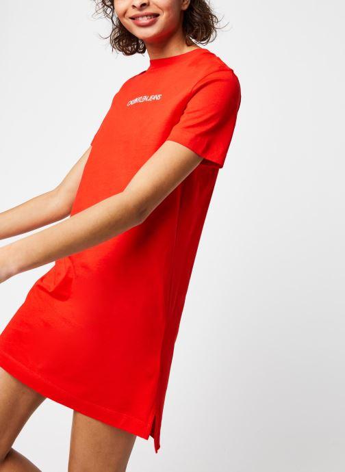 Vêtements Calvin Klein Jeans Institutional T-Shirt Dress Rouge vue détail/paire