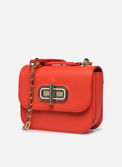 Bolsos de mano Tommy Hilfiger TURNLOCK MINI CROSSOVER Rojo vista del modelo