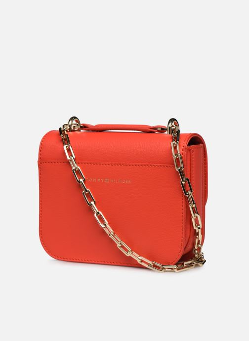 Sacs à main Tommy Hilfiger TURNLOCK MINI CROSSOVER Rouge vue droite