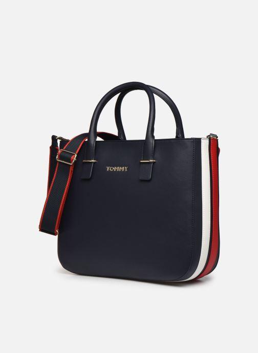 Bolsos de mano Tommy Hilfiger TOMMY STAPLE SATCHEL Azul vista del modelo