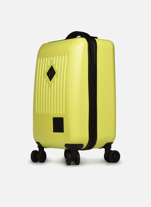 Bagages Herschel TRADE CARRY ON cabine Jaune vue portées chaussures