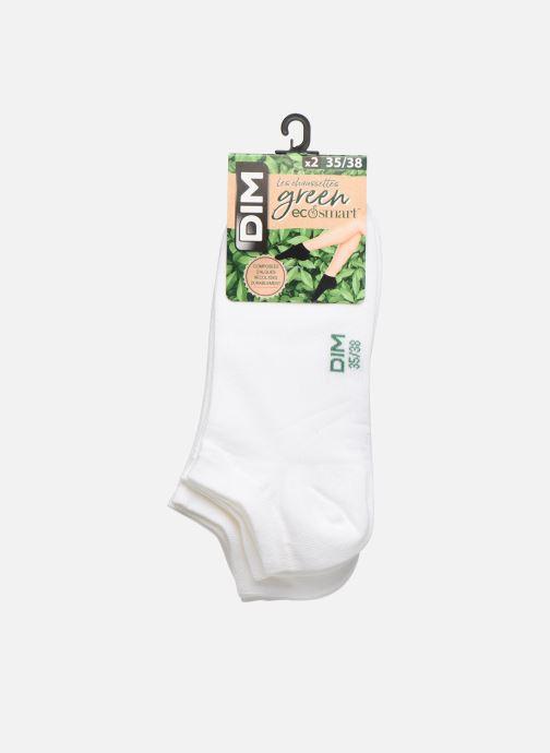 Chaussettes et collants Dim Socquette Courte Green By Dim X2 Blanc vue portées chaussures