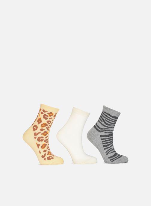 Sokken en panty's Dim Socquette Pockets Coton Motifs Animaliers X3 Beige model