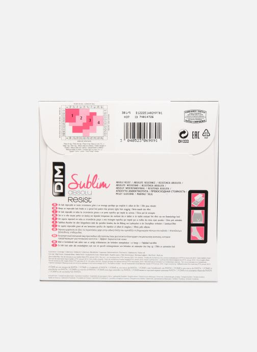 Calze e collant Dim SUBLIM ABSOLU RESIST 15D Beige modello indossato