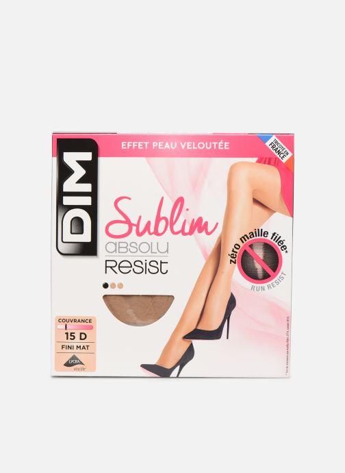 Chaussettes et collants Dim SUBLIM ABSOLU RESIST 15D Beige vue détail/paire