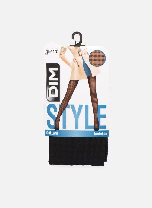 Chaussettes et collants Dim STYLE Vichy 20D Noir vue détail/paire