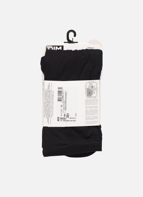 Chaussettes et collants Dim COLLANT OPAQUE SPECIAL SNEAKERS 40D Noir vue portées chaussures