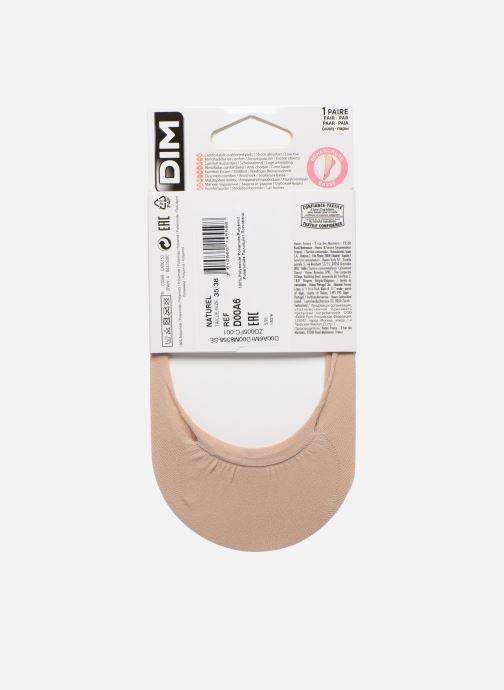 Chaussettes et collants Dim INVISIFIT PROTÈGE-PIEDS SEMELLE ANTICHOC Beige vue portées chaussures
