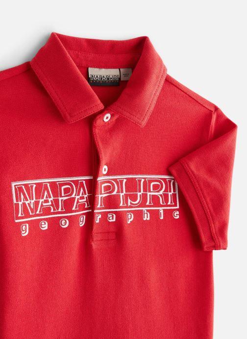 Vêtements Napapijri K Eoli Rouge vue portées chaussures