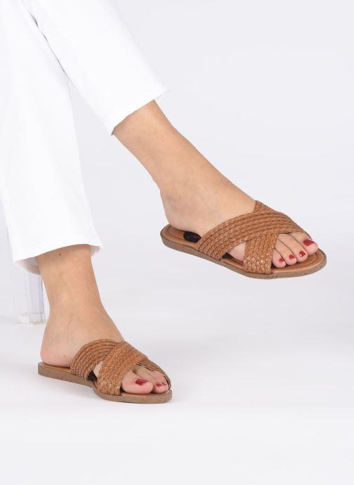 Zoccoli I Love Shoes THAZA Marrone immagine dal basso