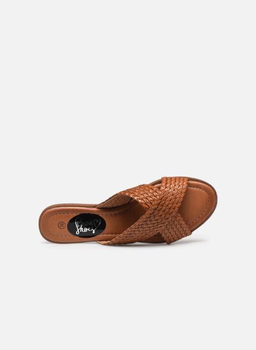 Zuecos I Love Shoes THAZA Marrón vista lateral izquierda