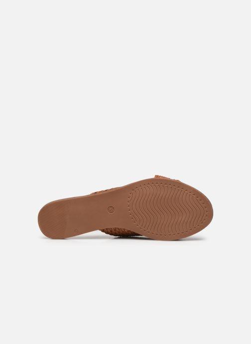 Zuecos I Love Shoes THAZA Marrón vista de arriba