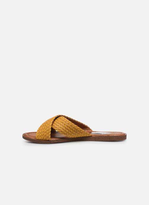 Zuecos I Love Shoes THAZA Amarillo vista de frente