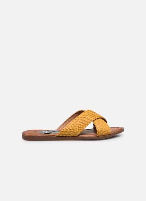 Zuecos I Love Shoes THAZA Amarillo vistra trasera
