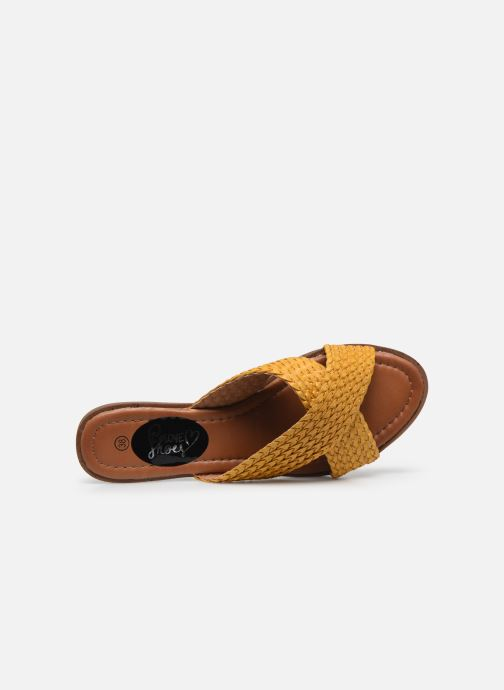 Zuecos I Love Shoes THAZA Amarillo vista lateral izquierda