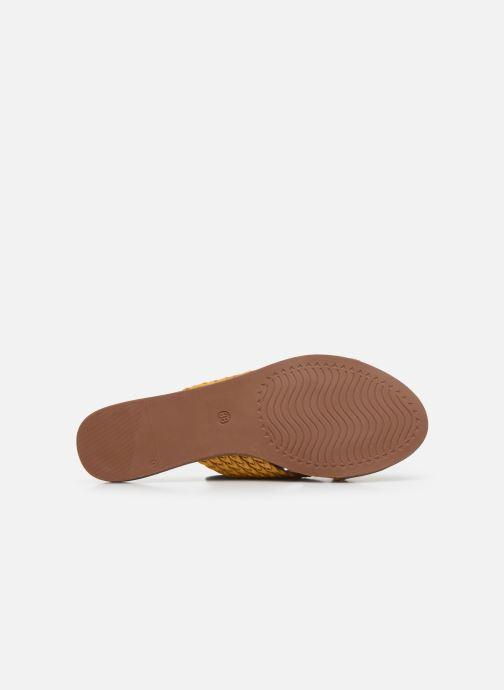 Zuecos I Love Shoes THAZA Amarillo vista de arriba