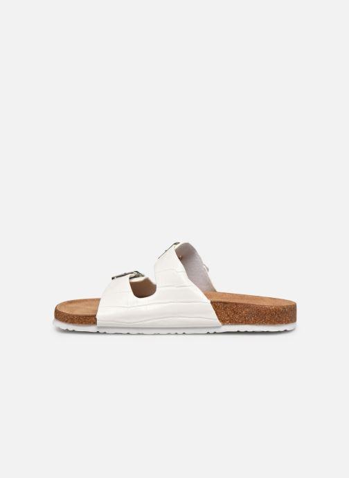 Zuecos I Love Shoes THIC Blanco vista de frente