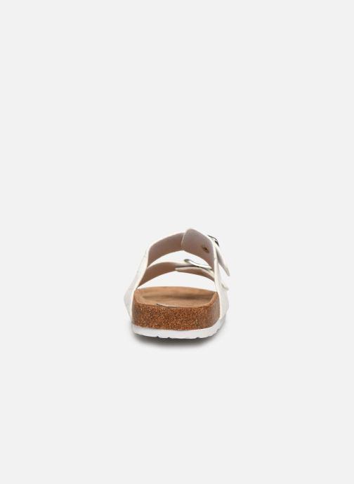 Zuecos I Love Shoes THIC Blanco vista lateral derecha
