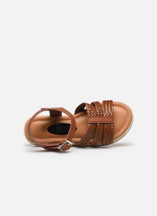 Sandalen I Love Shoes THIMY braun ansicht von links