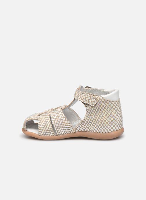 Sandales et nu-pieds Little Mary Lilas Blanc vue face