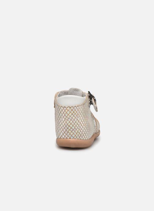 Sandales et nu-pieds Little Mary Lilas Blanc vue droite