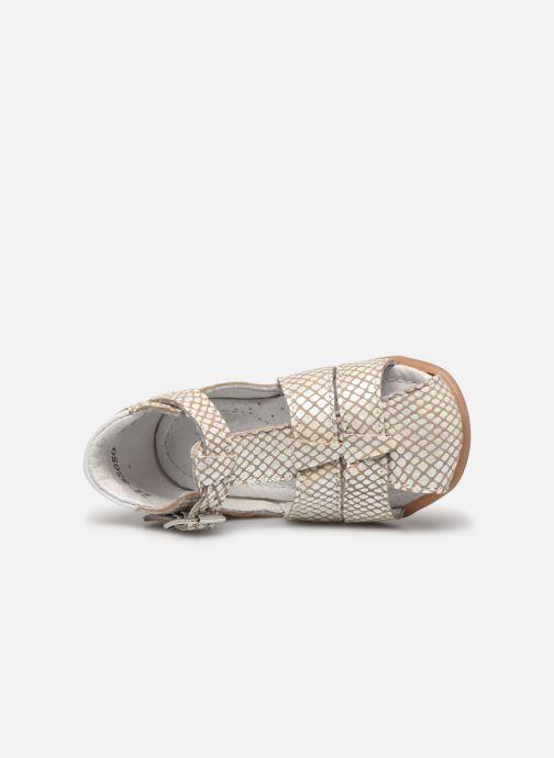Sandales et nu-pieds Little Mary Lilas Blanc vue gauche