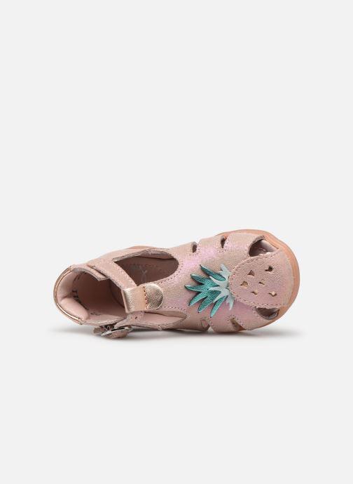Sandales et nu-pieds Little Mary Louise Rose vue gauche