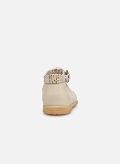 Sandalias Little Mary Louise Beige vista lateral derecha