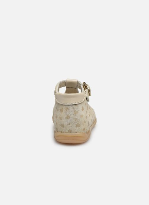 Sandalias Little Mary Laure Oro y bronce vista lateral derecha
