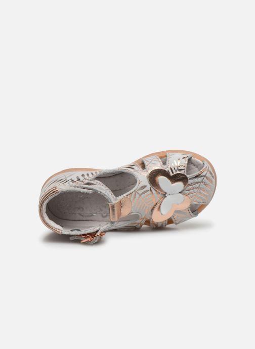 Sandali e scarpe aperte Little Mary Laure Argento immagine sinistra