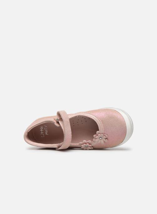 Ballerinas Little Mary Lou rosa ansicht von links