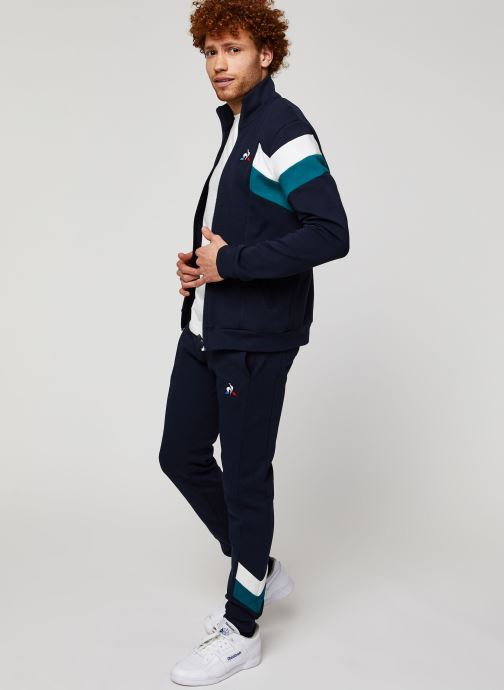 Vêtements Le Coq Sportif Chevron Fz Sweat N°1 M Bleu vue bas / vue portée sac