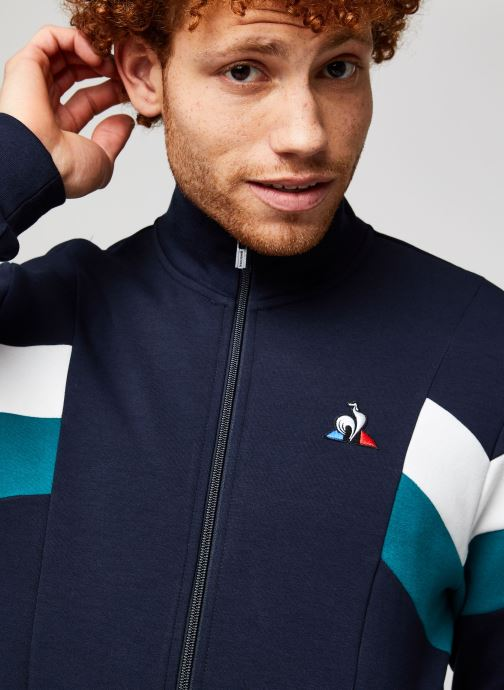 Vêtements Le Coq Sportif Chevron Fz Sweat N°1 M Bleu vue face