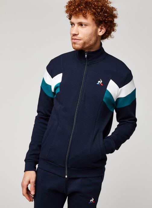 Vêtements Le Coq Sportif Chevron Fz Sweat N°1 M Bleu vue droite